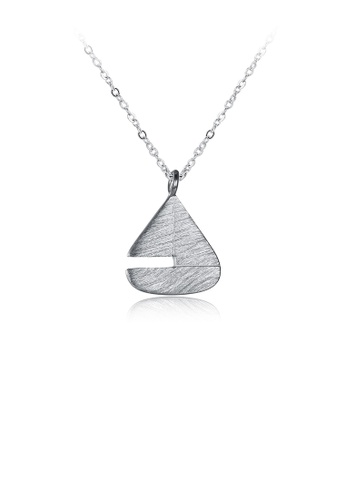 Glamorousky silver 925 Sterling Silver Simple Fashion Geometric Triangle Pendant Necklace 1BB62ACE48C1E3GS_1