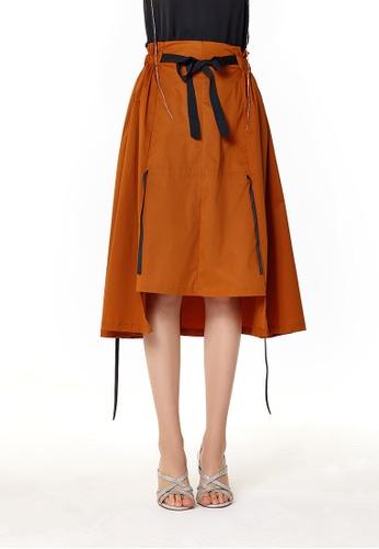 London Rag orange Orange High Low Midi Skirt A9984AADBEE9C7GS_1