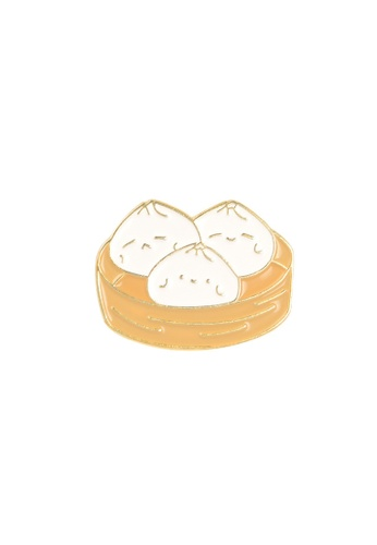 Kings Collection gold Bao Dim Sum Enamel Pin (KCPN1013) 74E42ACCAE97F5GS_1