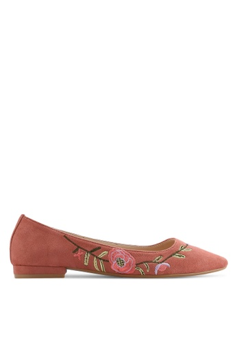 ZALORA pink Floral Embroidered Ballerinas 50FA3SH2C89424GS_1