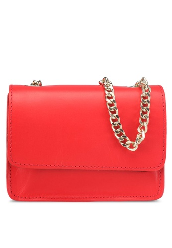 Pieces red Meagan Leather Crossbody Bag 49031AC17F1CD5GS_1