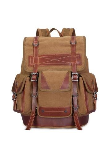 A FRENZ brown A Frenz Vintage Canvas Backpack 11F10AC3DE0973GS_1