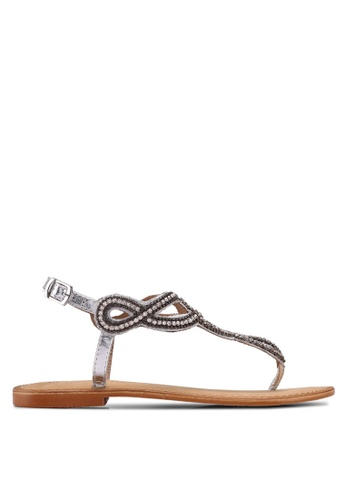 Vero Moda silver Liv Leather Sandals 19813SH49ACA88GS_1