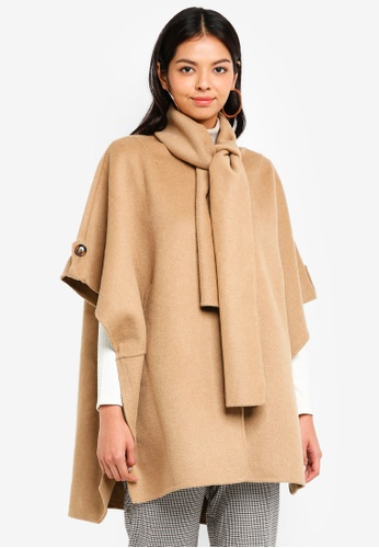 ESPRIT brown Woven Cape 7B2BBAAA7C9355GS_1