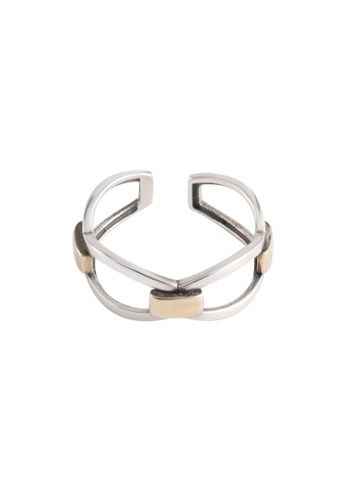 OrBeing white Premium S925 Sliver Geometric Ring EE540AC619A917GS_1