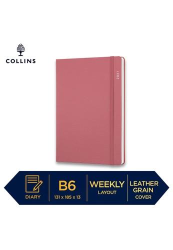 Collins pink Collins Metropolitan  Glasgow ─ 2021 Calendar Year Diary ─ Pink ─ B6 Week to View C7A28HL573E801GS_1