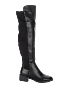 9e9b03fe5c3f Rock Rose black Knee High Zip Boots E5778SHC7671BFGS 1