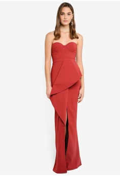 f8109359732 30% OFF Elle Zeitoune Structured Gown With Folded Waist Band Detail And  Front Split S  389.95 NOW S  273.00 Sizes 8 12 14