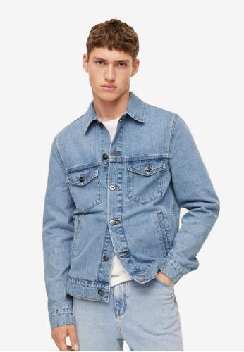 MANGO Man 藍色 Medium-Wash Denim Jacket 50F6DAADC02A87GS_1