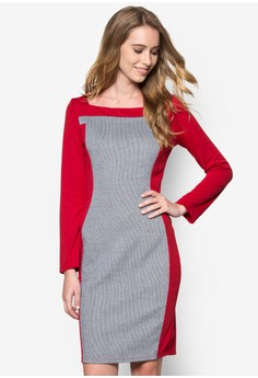 Chloe Color Block Midi Dress