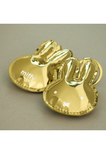 Miffy Miffy Gold Leather Keychain 00963HL77CBA7AGS_1