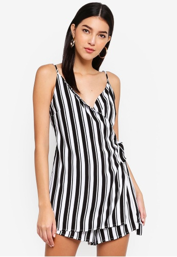 bb47830921 Buy Supre Wrap Front Side Tie Playsuit Online on ZALORA Singapore