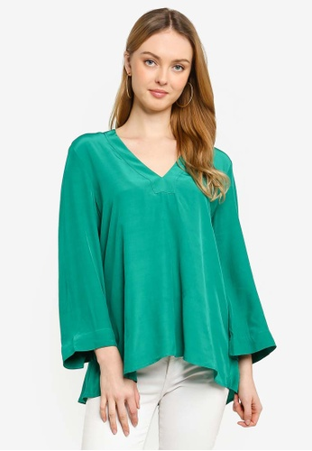 French Connection green Antuca Drape Top E7425AA7F0D60AGS_1