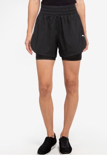"Puma black Favourite 2-in-1 3"" Shorts B3CEDAACB4592CGS_1"