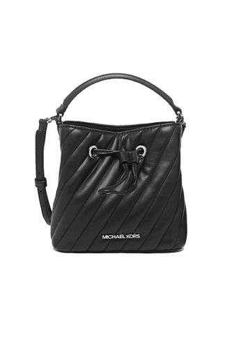 MICHAEL KORS black Michael Kors Suri Small Quilted Crossbody Bag Black silver hardware 0095CACB46264DGS_1