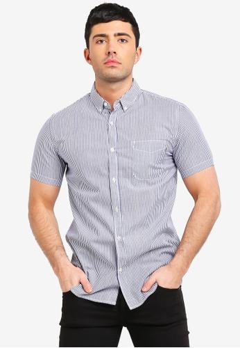 Cotton On 海軍藍色 復古短袖襯衫 02B54AA8196295GS_1