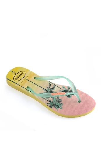 Havaianas yellow Slim Paisage Flip Flops 4EEF0SH93736C9GS_1