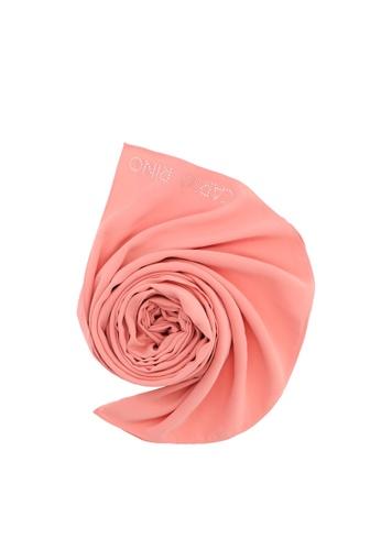 Carlo Rino Peach Blend of Comfort Crepe Scarf 79913ACCA6E166GS_1