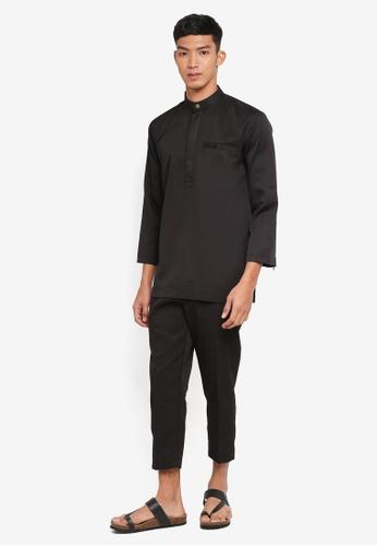 Klozet Kuala Lumpur 黑色 Baju Melayu Regular Ghazal 套裝 D1BEEAA71E6731GS_1
