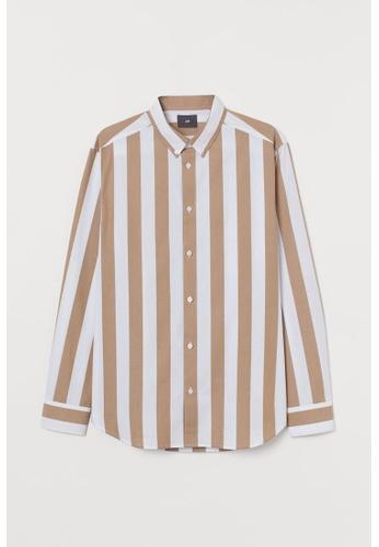 H&M multi and beige Regular Fit Shirt 051EEAA9CF26C7GS_1