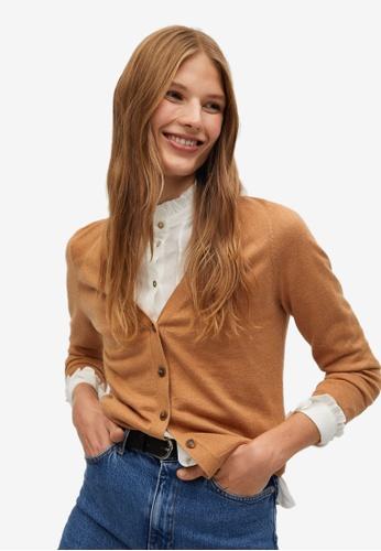 Mango brown Modal-Blend Knit Cardigan 64A77AA8C3E7ECGS_1