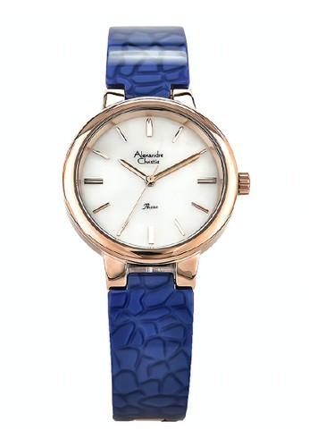 Alexandre Christie blue Alexandre Christie Jam Tangan Wanita - Rosegold Blue - Ceramic - 2573 LHBRGMSBU 808DBACDBD82CDGS_1