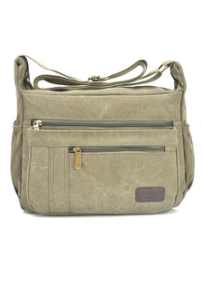 0cc18a3cfc GMZ Korean Fashion Classic Canvas Messenger Bag Sling Bag 338 (Army Green)  JA762AC36KDFMY 1