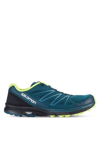 Salomon blue and multi Sense Marin Shoes C7F59SH67E3D35GS_1