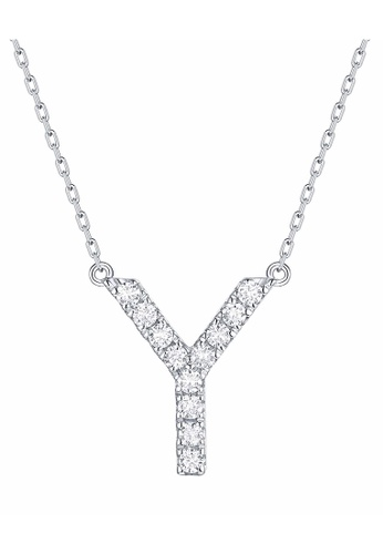 Smiling Rocks 白色 10K白金0.17克拉實驗室培植鑽石訂製系列項鍊 1056EAC11670F1GS_1