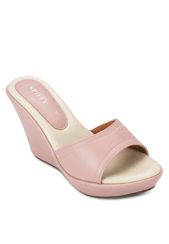 露趾楔形涼esprit專櫃鞋, 女鞋, 楔形涼鞋