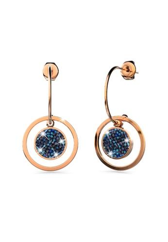 Bullion Gold gold BULLION GOLD Disc Drop Rose Gold Layered Earrings F2B41AC52FC58BGS_1