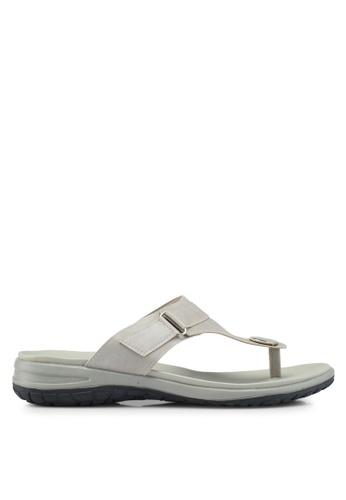 Bata 褐色 休閒夾腳涼鞋 C38D0SHDB80BFCGS_1