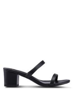 927ec926967 DMK black Slip On Block Heel Sandals 0062BSHB93ED38GS 1
