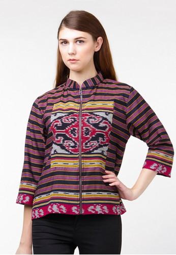 Batik Etniq Craft Jacket Lurik Tenun Tumpal
