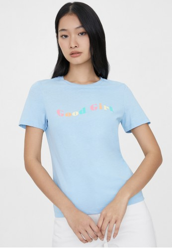 Pomelo blue Sustainable Good Girl Graphic Tee - Light Blue 5A818AA7E0827CGS_1