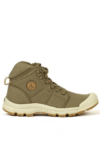 Aigle brown Tenere Light Mid Canvass Men's Adventurer's Shoes 37FB1SH5EA9586GS_1