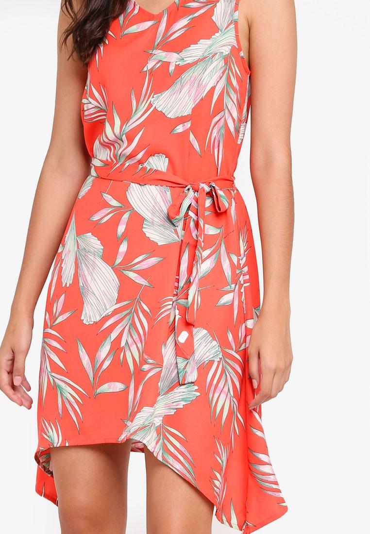 Sleeveless Maharete Red Dress Short Moda Maharete Vero Poppy 8dZRq