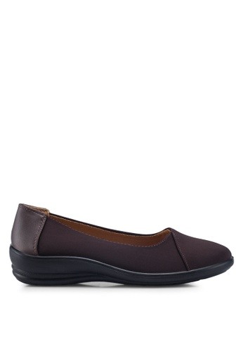 Louis Cuppers 褐色 Round Toe Flats 19B60SH92D9067GS_1