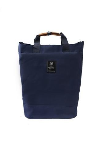 GreyPlus blue Drawstring Buckle Backpack GR720AC0FJU9SG_1
