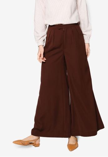 ZALIA BASICS brown Wide Leg Trousers 0621EAA74BBEC0GS_1