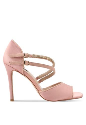 ZALORA pink Bejeweled Detail High Heels BE365SHA546045GS_1