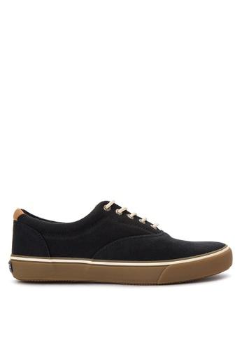 Sperry black Striper CVO Canvas Sneakers SP132SH0IJXFPH_1