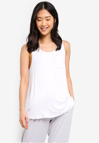 Cotton On Body white Sleep Recovery Pocket Tank Top EEABAAA36911C8GS_1