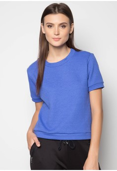 Short Sleeves Boxy with Zipper Shoulder Detail