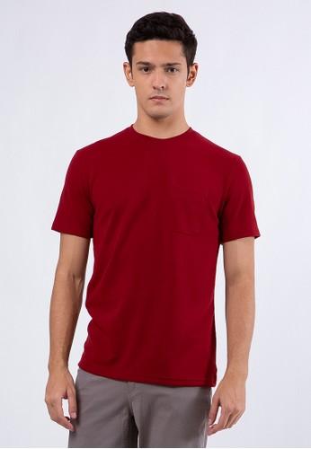 The Executive red Slim T-Shirt Maroon 723EEAA874BF2FGS_1