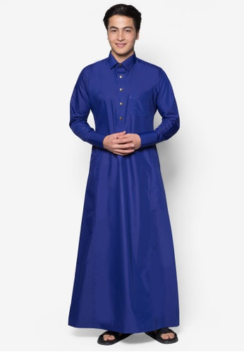 Amar Amran blue Jubah A Daler Yusuf Edition Slim Fit (Royal Blue) 8734BAAF43C06CGS_1