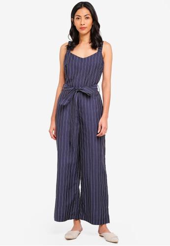 7cf4a7f4582 Shop WAREHOUSE Linen Pinstripe Jumpsuit Online on ZALORA Philippines