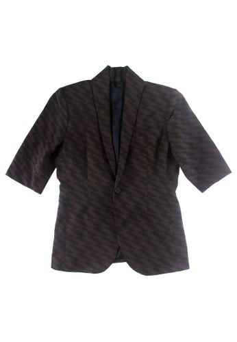 7分袖幾何圖形外esprit holdings套, 服飾, 休閒西裝外套