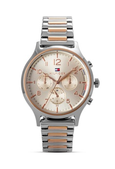 6d0ca0a976b95 Tommy Hilfiger Watches silver and gold Women s Stainless Steel Round Case  Watch 23585ACAB49067GS 1