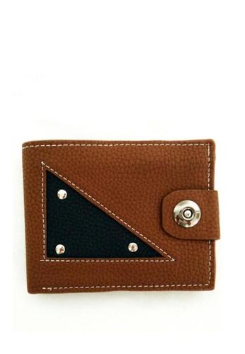 Lucky JX brown Trigon Short Wallet 8A897AC673BB88GS_1